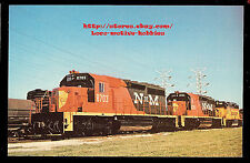 Lmh Postcard 1972 National Railway Mexico NdeM Emd Sd40-2 #8703 #8701 McCook Il