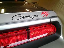 """Dodge Challenger RT Decal SILVER  Emblem Spoiler  1.5"""" x 11""""  6 yr. War."""