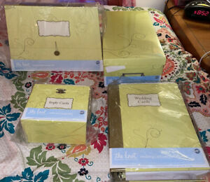 (4) The Knot Wedding Collection by Wilton Reply Cards, Keepsake Holder & etc