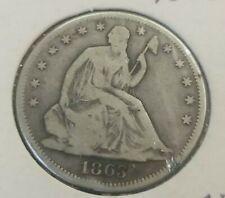 1863 Silver Seated Liberty Half Dollar Good+