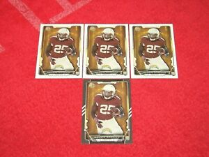 MELVIN GORDON BRONCOS 2015 BOWMAN RC LOT OF 4 WITH BLACK PARALLEL (F-2046)