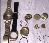 Vintage Bulova Accutron Watch Lot Tuning Fork  Movements Parts Repair 2821 2822