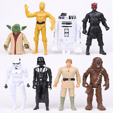 8PCS Set Star Wars Darth Maul Darth Vader Stormtrooper Yoda Action Figure Toys