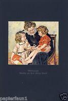 Bildnisgruppe Kunstdruck von 1921 Mutter und Kinder Mädchen Philipp Franck Kind