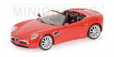 Alfa Romeo 8C Spider 2007 Red Minichamps 1:64 640120530 Model