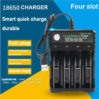 Smart Battery Charger 4 Bay for Rechargeable Batteries 10440 18350 18650 16340