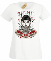 Home Is Where The BEARD Is Womens T-Shirt funny Ladies top
