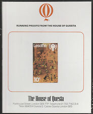 Lesotho (1886) - 1979 Year of the Child 10s Imperf on QUESTA PROOF CARD