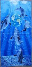 "Beach Blanket Towel Dolphins Earth Dance 30"" x 60"" New 100% Cotton Schimmel"