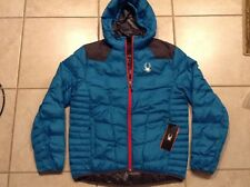Spyder Geared Synthetic Down Hoody Hooded Jacket Coat 783332 Mens Large Red Blue