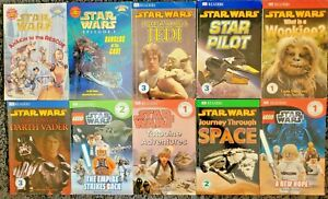 STAR WARS CHILDREN'S READER 10 BOOK LOT MIXED LEVELS READERS BOOKS PAPERBACK