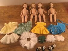 "New ListingVintage Madame Alexander 8"" Dolls Bkw and Clothing Tlc Lot"