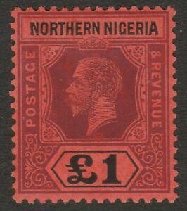 Northern Nigeria 1912 £1 Purple & black/ red SG 52 Mint.