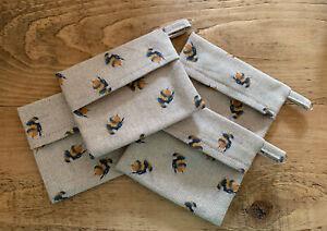 Bumblebee Print Fabric Handmade Poo Bag Holder