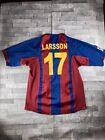 Barcelona FC Larsson #17 Nike 2004/5 Football Shirt Size Presumed L/XL