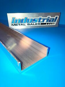 "3"" x 1"" x 12""-Long x 1/8"" Thick 6061 T6 Aluminum Channel --->3"" Wide Channel"
