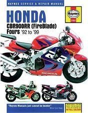 HAYNES SERVICE REPAIR MANUAL HONDA CBR900RR FIREBLADE 1992-1999 N P R S T V W X