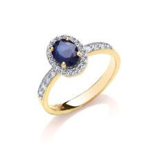 1283ae5673b9 Anillos de joyería con diamantes en oro amarillo zafiro