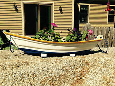 Flower box ,planter ,Boat style planters,Handmade composite boat flower box.