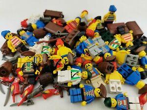 Lego® Piraten 5 Figuren Minifiguren mit Kopfbedeckung u. Zubehör Figur Pirates