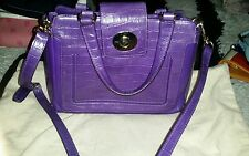 Cole Haan Convertible Satchel, Purple, Pre-loved