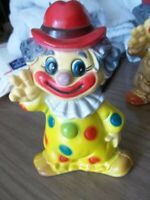 """Vintage 70's Clown Bank with Stopper Plastic 7"""""""