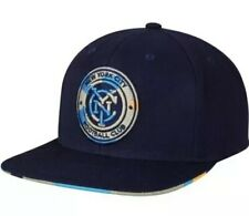 adidas New York City FC Navy Neon Logo Snapback Adjustable Hat MLS