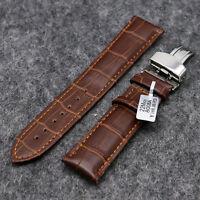 Men Women Brown Genuine Leather Strap 18mm 20mm 22mm Watch Band Bracelet Clasp