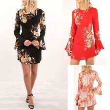 Vestito Donna Mini Abito Stampa Fiori Woman Mini Flower Print Dress 110325 P 2