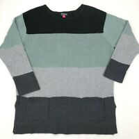 Vince Camuto colorblock knit top with pockets Size XL