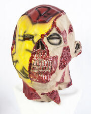 Full Head Zombie Iron Man Latex Mask Deluxe Fancy Dress Halloween Undead Ironman