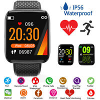 Bluetooth Smartwatch Fitnesstracker Sport Armbanduhr Pulsuhren Fitnessuhr IP67 &