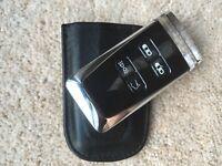 ASTON MARTIN Car Key Leather Pouch Fob Holder Pocket Black DBS Vantage