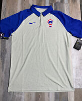 New Chicago Cubs Nike Dri-Fit Legacy Tri-Blend Performance Polo Sz MEDIUM $70