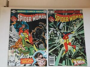 MARVEL: SPIDER-WOMAN #37 & 38, X-MEN/1ST APPEARANCE OF SIRYN, 1981, VF/NM (9.0)!