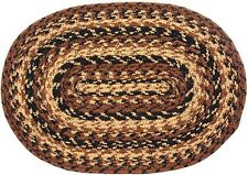 "IHF Home Decor Braided Rug Table Placemat 13"" x 19"" Cappuccino Set of 4"