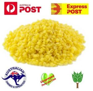 Pure Beeswax Pellets Cosmetic Beads Candle Food Wrap Bees Wax Australian Seller