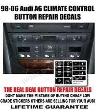 98-06 Audi A6 Climate Control Button Repair Decals Stickers Worn Button Repair