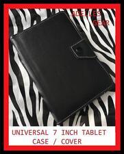 UNIVERSAL 7 INCH ANDROID TABLET CASE SAMSUNG , PENDO, LENOVO -BLACK DESIGN