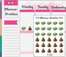 P1512 Kawaii Money Payday Planner Stickers