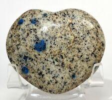 "2.25"" K2 Jasper Azurite Puffy Heart Polished Gemstone Crystal Mineral - Pakistan"
