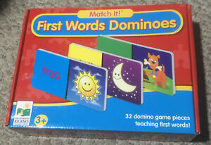 Match It First Words Dominoes