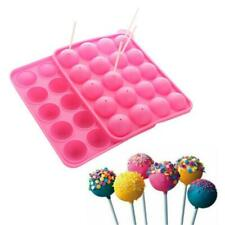 Silicone Tray Pop Cake Mould Lollipop Party Cupcake Baking Mold + 20PCS Stick
