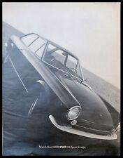 "1968 FIAT 124 Sport Coupe 10x13"" Automobile B/W Print Ad"