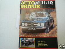 AMK 1987-1112 OPEL GT CABRIO,ALFA BERTONE GT/V,HARLEY-DAVIDSON,HURST 1964,LOTUS,