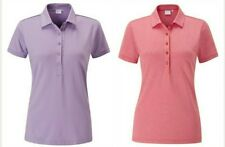 Ping Ladies Polo Top Short Sleeve Berry Marl Size 14