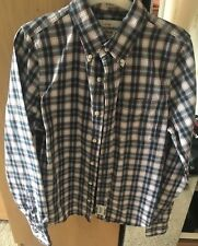 Men's Abercrombie & Fitch Blue, white & Red Check Shirt Size Medium Smart Casual