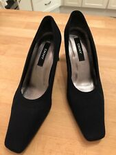 Dkny Tribunal Zapatos Tacones De Tela Negra Talla 37 UK4