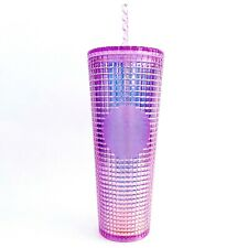 Starbucks Pink Grid Disco Christmas Holiday 2020 Cold Cup Tumbler 24oz VENTI