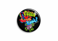 Peace and Love - Rock 1 - Badge 25mm Button Pin